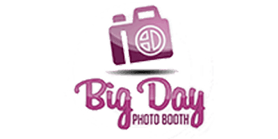big day photo booth logo affiliated with hip haus