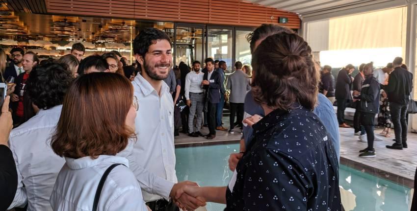 handshake at hip haus networking event