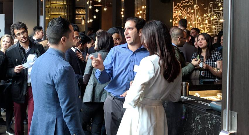 yougg professional talking at a toronto networking event